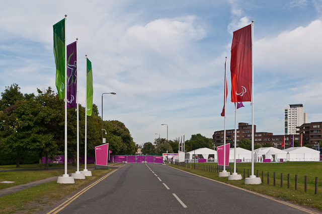 Entrance to London 2012 shooting venue