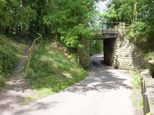Railway bridge over a country lane