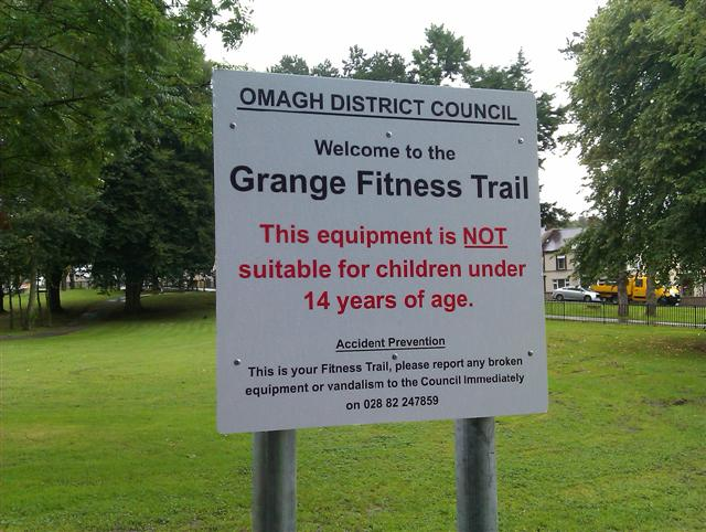 Notice, Grange Fitness Trail