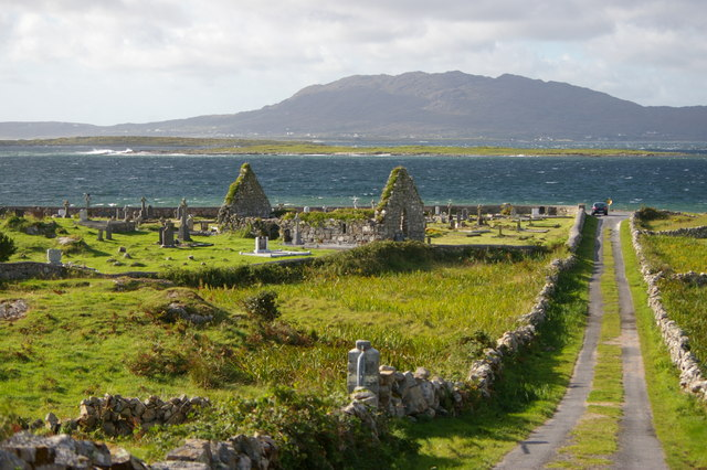 Graveyard and ruined church