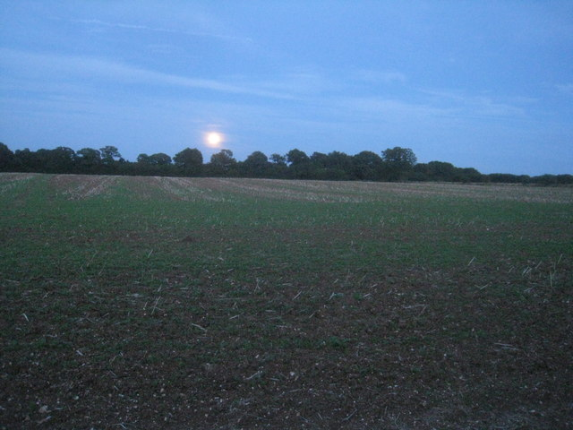Full moon over Hansfords Field
