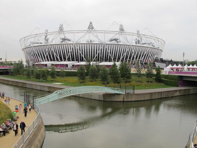Footbridge over City Mills River by Olympic Stadium