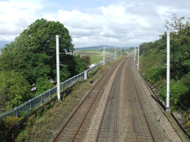 West Coast main Line at Hest Bank