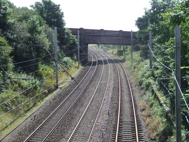 West Coast Main Line near Hest Bank