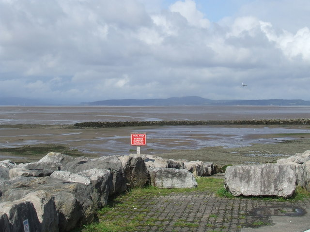 Tidal slipway near Morecambe