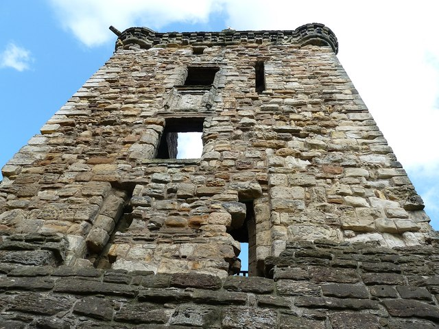 St Andrews - Castle - View up the Fore Tower