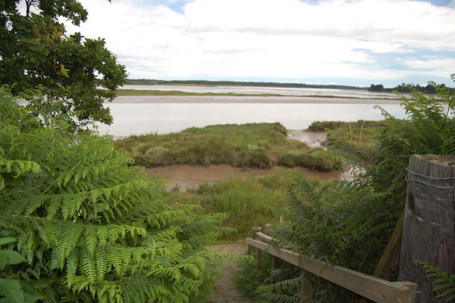 The Suffolk Coast Path at Iken Cliff