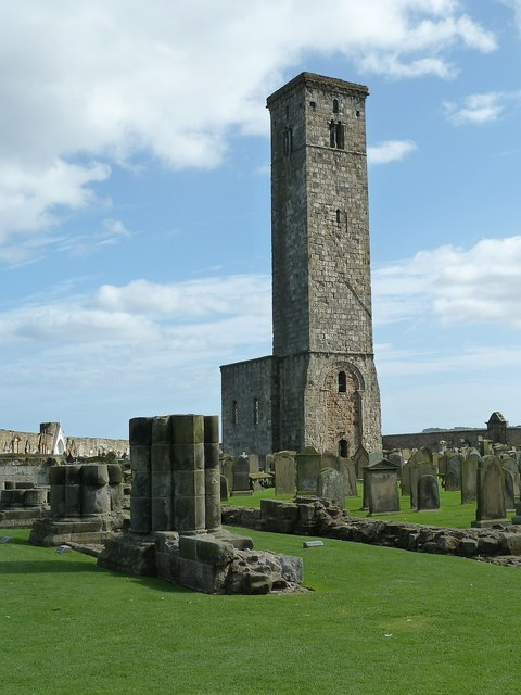 St Andrews - St Rule's from ruined cathedral nave