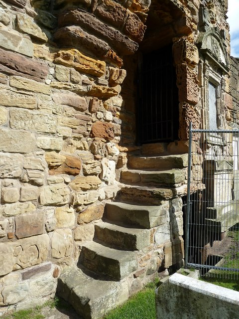 St Andrews Cathedral - steps in the wall