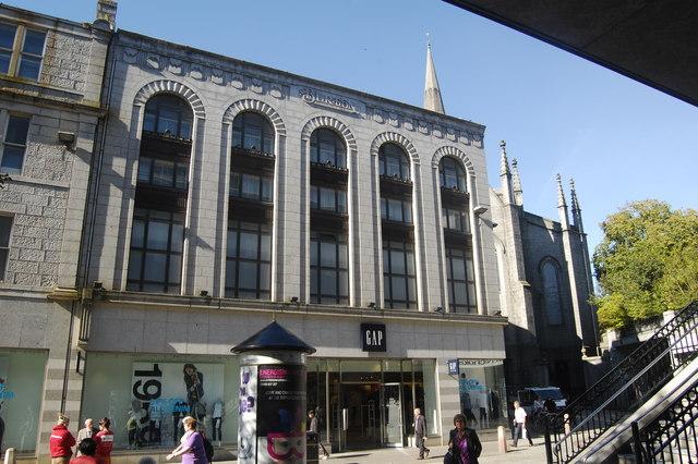Former Burton Tailors building
