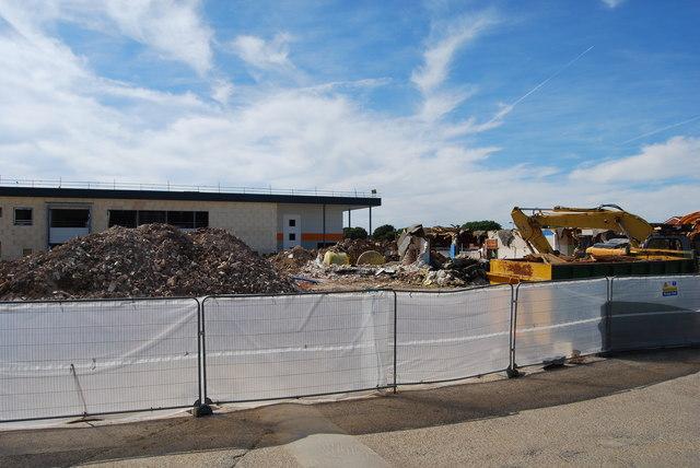 Construction and demolition at Holbrook