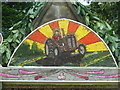 SK1274 : Detail of well dressing, Wormhill by Ruth Sharville