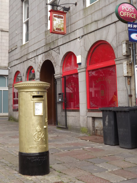 Golden Post Box