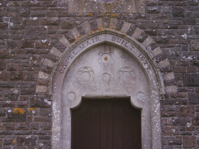 Arch over entrance door of Capel Mair