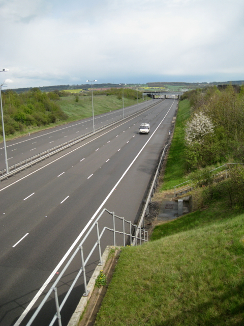 M6 Toll at junction 3A looking east