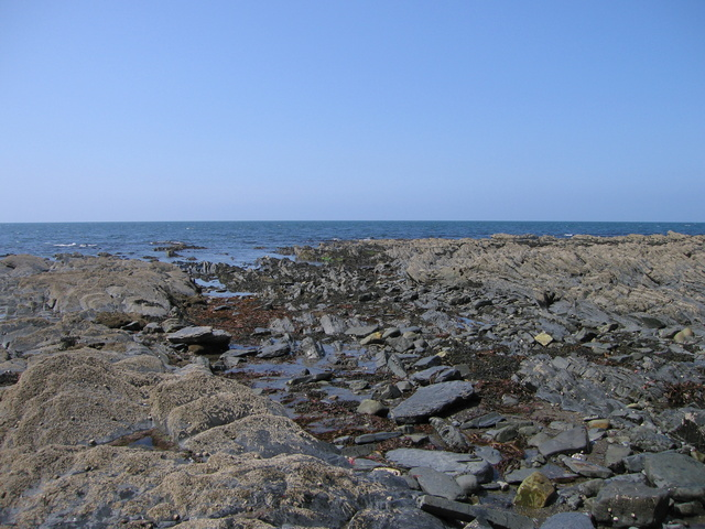 Aberystwyth grits - fault exposed on the foreshore