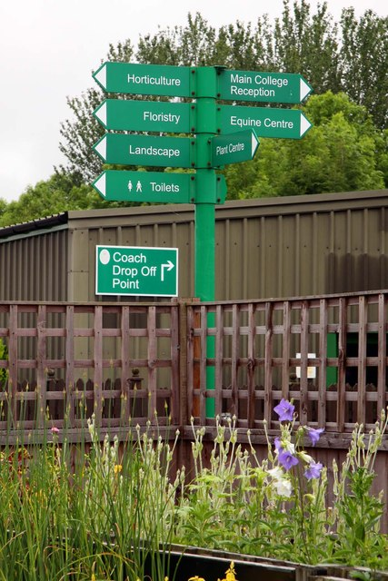 Signpost in Myerscough College