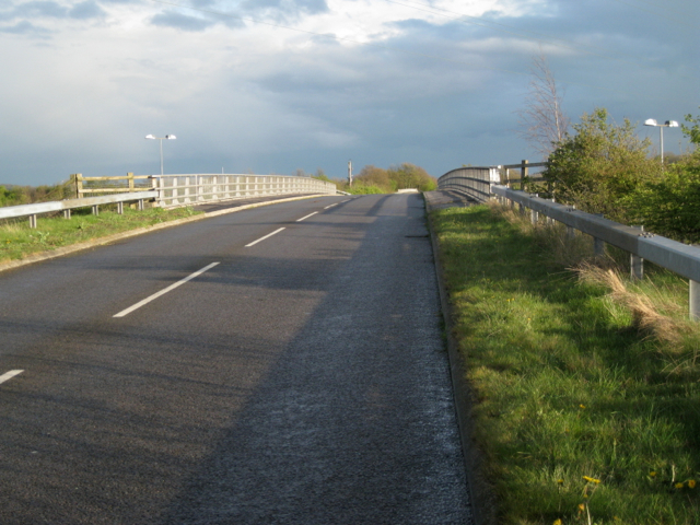 Packington Lane crosses M6 Toll looking south