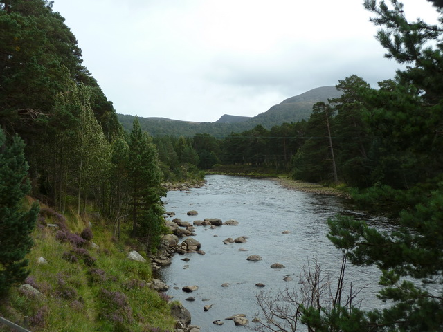 River Dee downstream of Garbh Allt Shiel footbridge