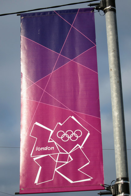 Olympic banner, Richmond Road