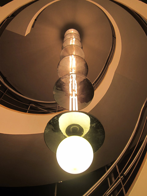 Light and spiral staircase, De La Warr Pavilion