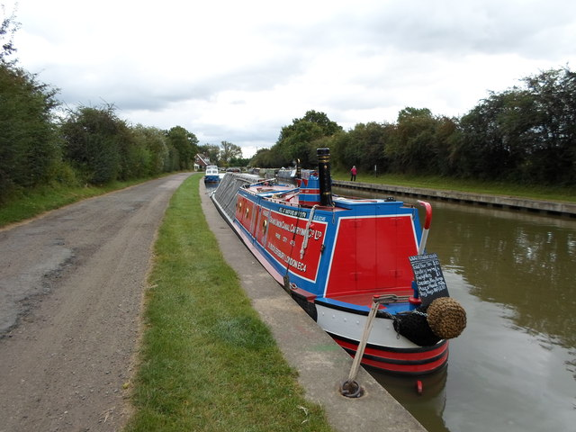 Working Narrow Boat Hadar moored at Norton Junction