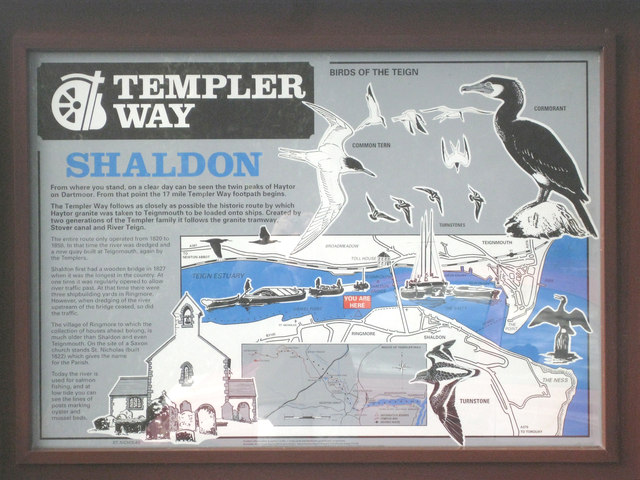 Templer Way information board at floodgate No.2