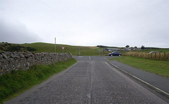 Approach to A98 junction