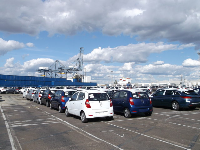 New Toyota cars, Tilbury Docks