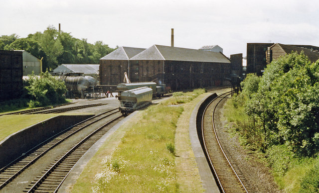 Remains of Cameron Bridge station, 1988