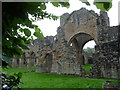 SJ6404 : Part of Buildwas Abbey ruins by Jeremy Bolwell
