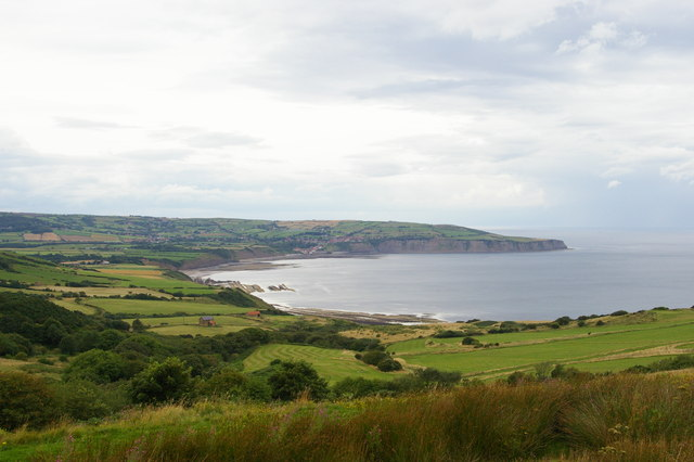 Looking across Robin Hood's Bay from Ravenscar