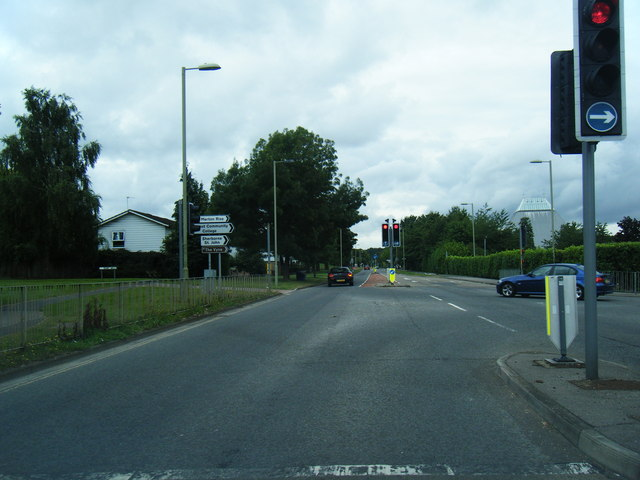 Popley Way/Chineham Lane junction