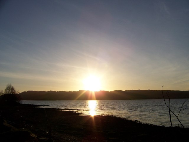 Sunset over Loch Fyne from Inver Cottage