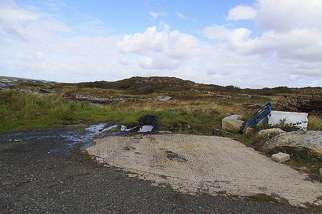 View along coast from slipway - Toberkeen Townland