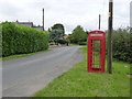 SK7851 : Hawton telephone kiosk  by Alan Murray-Rust