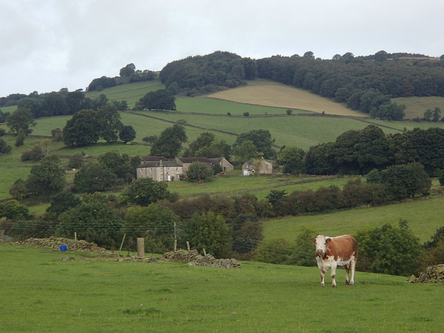 On Hare Knoll, view to Knouchley Farm