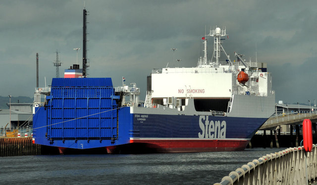 "The ""Stena Hibernia"" at Belfast (2)"