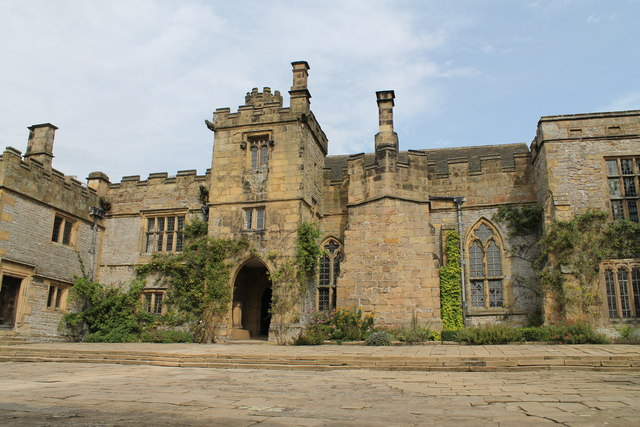 Haddon Hall from Lower Courtyard