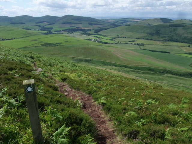 Following the Hillfort Trail off Yeavering Bell