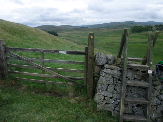 St Cuthbert's Way dropping down to the valley of the Akeld Burn