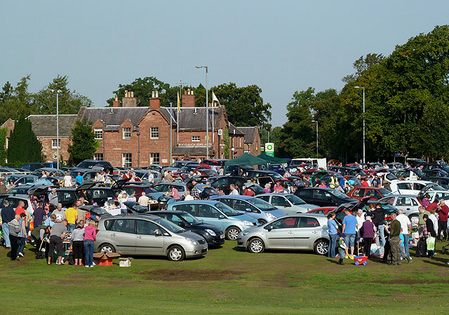 A car boot sale at St Boswells