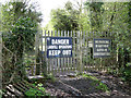 SP2185 : Ancillary gates, Packington Landfill  Site by Robin Stott