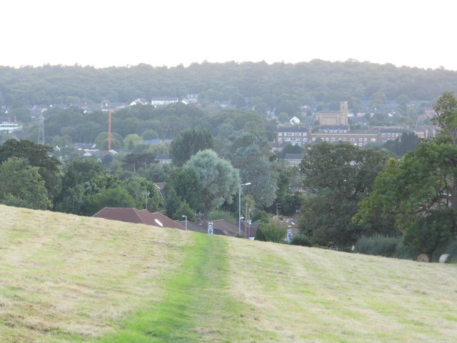 View across Carpenders Park from Merry Hill