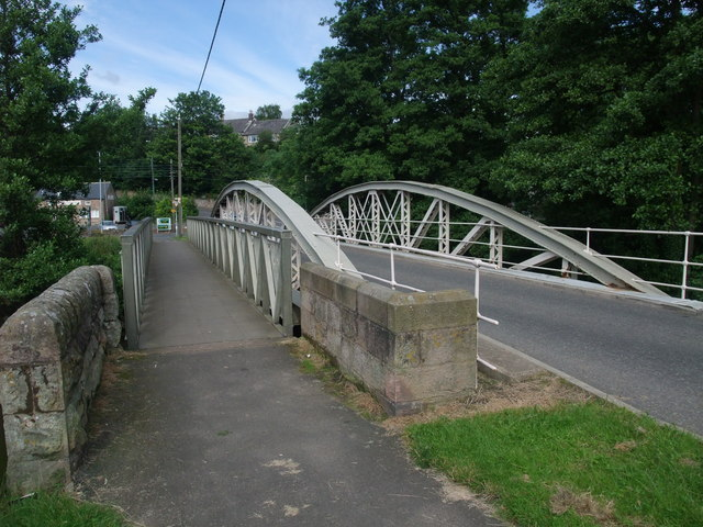The Iron Bridge leading into Wooler