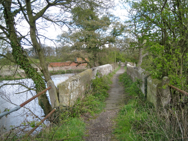 Stone bridge by the ford, River Blythe