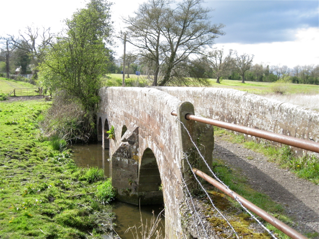 Arched bridge over the River Blythe floodmeadows