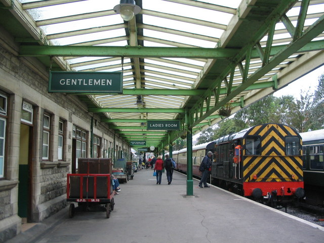 Platform at Swanage railway station