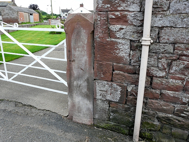 Ordnance Survey bench mark on side of house, Lessonhall