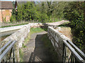 SP2185 : East end of stone footbridge over the River Blythe by Robin Stott